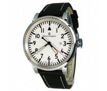 Herren-Armbanduhr XL Analog Automatik Leder 16053.2533