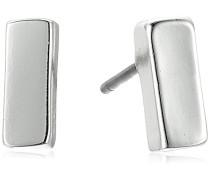 feine Linien Silber Ton Knopf Ohrstecker Ohrring
