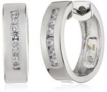 - Damenklappcreole aus 925er Sterling Silber und 12 weißen Zirkonias 360210141L