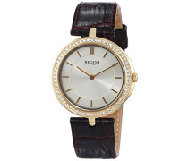 Regent Damen-Armbanduhr XS Analog Quarz Leder 12090292