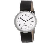 Alessi Unisex-Armbanduhr Analog Automatik Leder AL6000