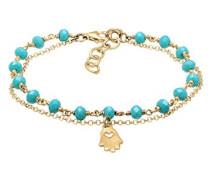 Damen-Armband Kugel Layer Hamsa Hand 925 Silber 16 cm - 0204712517_16
