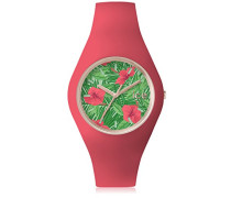 - ICE flower Aloha - Rosa Damenuhr mit Silikonarmband - 001307 (Medium)