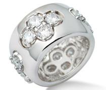 Joy Damen-Ring 925 Sterling Silber hochglanzpoliert rhodiniert mit Zirkonia
