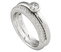 Diamonfire Damen-Ring 925 Sterling Silber Zirkonia Pave´ Linie weiß Gr.60 (19.1) 61/1413/1/082 919