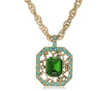 Damen-Kette  Kristall Grün 48.26 cm - 48813