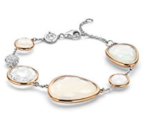 Damen-Armband Sterling-Silber 925, rhodiniert, mit Glaskristall und Zirkonia, 16- 20 cm - 2825WM