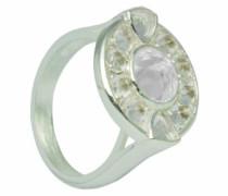 D for Diamond Damen-Ring Sterling-Silber 925 Weißtopas 54 (17.2) KRW003 SZ7