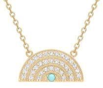 -  14 k (585)  Gelbgold Rundschliff   weiß Diamant
