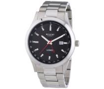 Regent Herren-Armbanduhr XL Analog Quarz Edelstahl 11150548