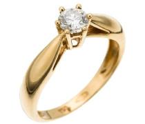 Damen-Ring 18 Karat Gold 1 Diamant 0.40 Carat RD-33063/56