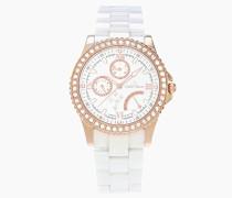 Damen-Armbanduhr Analog Quarz Premium Keramik Diamanten - STM15N3