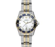 Damen Armbanduhr Analog Edelstahl mehrfarbig 14290/TB59B
