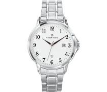 Herren-Armbanduhr Analog Edelstahl silber 616386