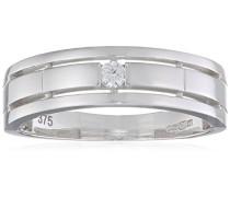 Damen-Ring 9 Karat 375 Weißgold Rundschliff weiß R1638WP