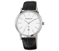 Orphelia Herren-Armbanduhr XL Analog Quarz Leder OR22670084