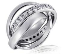 Goldmaid Damen-Ring Sterling-Silber 925 Gr.52 (16.6) Zirkonia Me R643S52