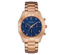 Caravelle New York Damen-Armbanduhr BOYFRIEND Chronograph Quarz Edelstahl beschichtet 44L192