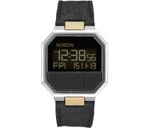 Unisex-Uhr Digital mit Lederarmband – A944-2222-00