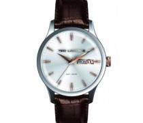 Herren-Armbanduhr Analog Quarz Leder 5124204