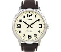 Timex Herren-Armbanduhr Classic Schwarz Leder T28201