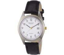 Regent Herren-Armbanduhr XL Analog Leder 11120089