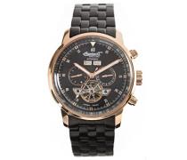 Unisex Automatic Watch withSchwarz Dial Analogue Display andSchwarz Stainless Steel Bracelet IN4511RBKM