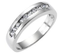 ZEEme Stainless Steel Ring mit 10 Kristallen Größe 58 389070007-058