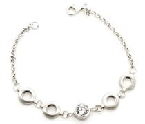 Damen-Armband 925 Silber rhodiniert Zirkonia weiß Brillantschliff 18.5 cm - ZA-1008