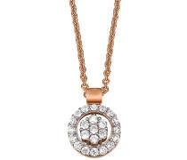 Damen Halskette 925 Sterling Silber rhodiniert Glas Zirkonia L'Étoile 42 cm weiß S.PCNL90450C420