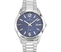 –616299–Zeigt Herren-Armbanduhr 10510262Analog Stahl Silber