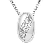 Damen Halskette 925 Sterling Silber Zirkonia Anhänger 45cm Kette