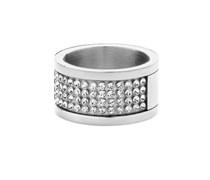 Dyrberg / Kern Damen-Ring Emily III SS Crystal 330962