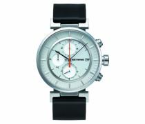 Issey Miyake Unisex-Armbanduhr W Chronograph leder schwarz SILAY004