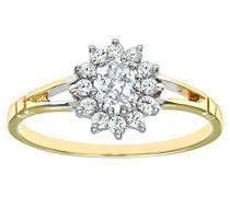 Damen-Ring Gelbgold Zirkonia Gr 54 (17.2) DIV006C-N
