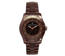 Damen-Armbanduhr Analog Quarz Edelstahl beschichtet DHD 004/5UM