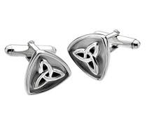 Sterling Silber und oxydiert Trilogy Keltisch Knoten Manschettenknöpfe