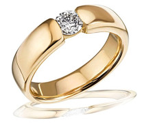 Damen-Ring Solitär 585 Gelbgold 1 Brillant SI/H 0,25 ct.