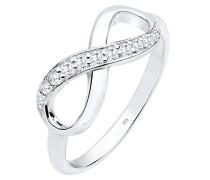 Damen Ring Infinity 925 Sterling Silber Zirkonia weiß