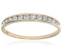 Damen-Ring 9 K Gelbgold Diamant