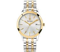 247G021–Elegance Classic–Armbanduhr–Quarz Analog–Zifferblatt Silber Armband Stahl vergoldet zweifarbig