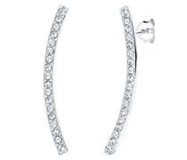 Damen-Ohrstecker Statement 925 Sterling Silber mit Swarovski Kristallen im Brillantschliff weiß   - 0312321814