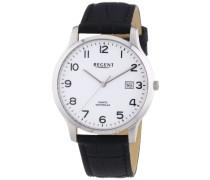 Herren-Armbanduhr XL Analog Quarz Leder 11110662