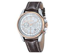 Herren-Armbanduhr Commodore Chronograph Quarz Schokolade ES-8028-09