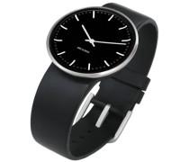 Unisex-Armbanduhr Analog Edelstahl schwarz 43437