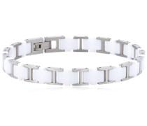 Boccia Damen-Armband Titan Keramik weiß 20.5cm 0388-01