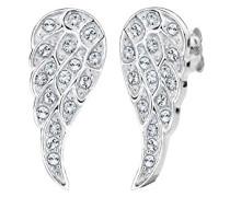 Damen-Ohrstecker Flügel 925 Sterling Silber mit Swarovski Kristallen im Brillantschliff weiß   - 0310251414