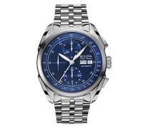 Herren-Armbanduhr Chronograph Automatik Edelstahl 63C121