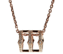 Sterling Silber Triple Spear Band Halskette 45cm