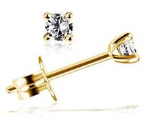 Damen-Ohrstecker Solitär Jana Solitär Ohrstecker Jana 0.15 ct. 585 Gelbgold Diamant (0.15 ct) weiß Brillantschliff   - So O6733GG Ohrringe Schmuck